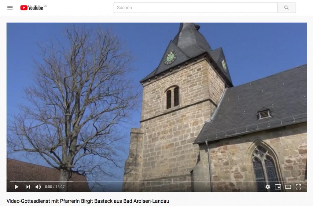 Video-Andacht aus der Kirche Landau